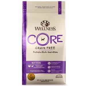 Wellness Core Natural Grain Free Dry Cat Food Kitten Turkey & Chicken