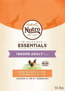 nutro wholesome essentials indoor adult natural dry cat food