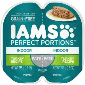 iams perfect portions grain free wet cat food pate for indoor cats