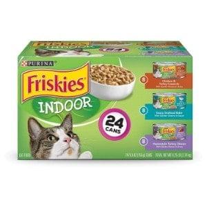 purina friskies indoor wet cat food variety pack