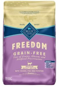 blue buffalo freedom grain free natural indoor adult dry cat food