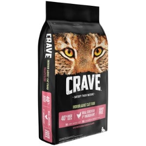 crave grain free with protein dry indoor adult cat food