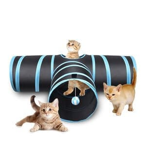 Creaker 3 Way Cat Tunnel Collapsible Pet Toy