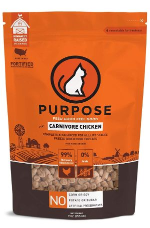 Purpose Freeze Dried Carnivore Chicken Morsels Cat Food