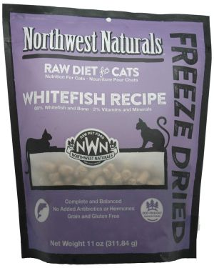 Northwest Naturals Freeze Dried Raw Cat Food Nibbles – Whitefish