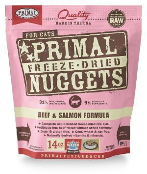Primal Freeze Dried Cat Food – Beef & Salmon