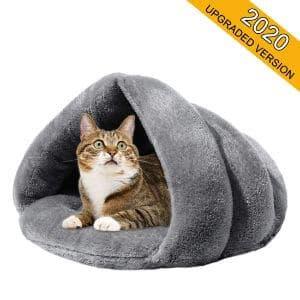 Mojonnie Soft Fleece Self-Warming Cat Bed
