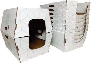 Cats Desire White Disposable Litter Boxes 10 Piece-min