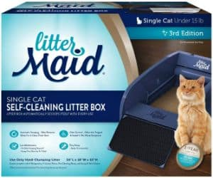 LitterMaid Single Cat Self-Cleaning Litter Box-min