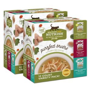 Rachael Ray Nutrish Purrfect Broths Natural Wet Cat Food Complement