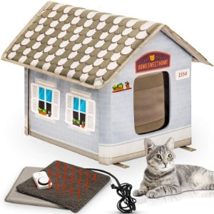 Petyella Heated Outdoor Cat House