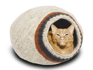 Meowfia Premium Wool Bed Cat Cave
