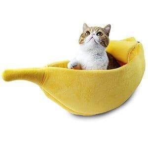 PET GROW Cute Banana Cat Bed House