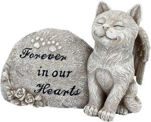 Design Toscano Forever in Our Hearts Memorial Cat Statue