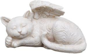 Napco Sleeping Angel Cat with Wings Garden Statue