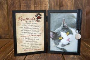 Pawprints Pet Memorial Frame for Cats