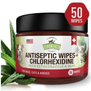 chlorhexidine wipes for dogs and cats