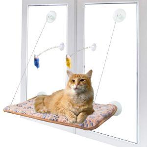 AWOOF Pet Cat Hammock Window Perch Set