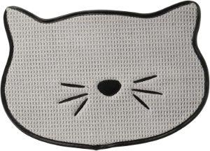 Bone Dry Embroidered Microfiber Cat Food Mat