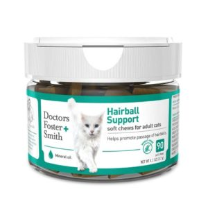 Doctors Foster + Smith Hairball Support Soft Chew for Cats