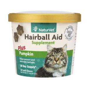 NaturVet Hairball Aid Plus Pumpkin Cat Hairball Treatment