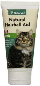 NaturVet Natural Hairball Aid Plus Catnip Gel for Cats