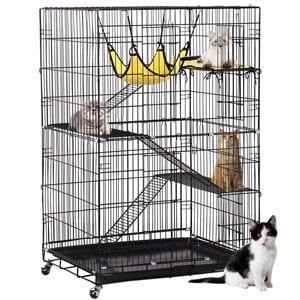 Yaheetech 4-Tier Kitten Cat Ferret Cage
