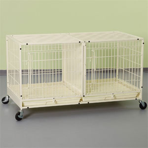 Modular Cage with Plastic Tray in Ivory