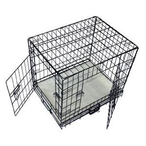 Cool Runners Tall Boy Small Wire Pet Crate With Bonus Faux Sheepskin Mattress