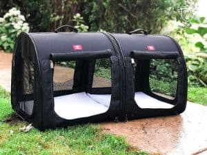 One for Pets Portable 2-in-1 Double Portable Pet Kennel