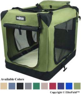 EliteField 3-Door Soft Dog Crate