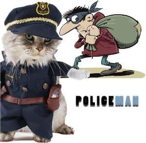 Delifur Pet Policeman Costume