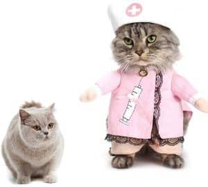 Yu-Xiang Pet Pink Nurse Cat Costume