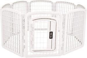 AmazonBasics 8-Panel Plastic Pet Pen