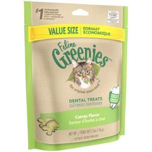 Feline Greenies Catnip Flavor Dental Cat Treats