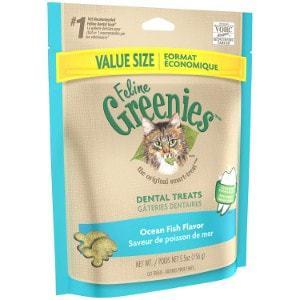 Feline Greenies Ocean Fish Flavor Dental Cat Treats
