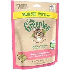 Feline Greenies Savory Salmon Flavor Dental Cat Treats
