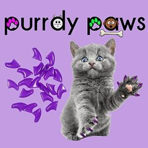 Purrdy Paws Soft Nail Caps For Cat Claws PURPLE