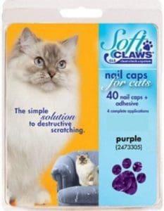 Soft Claws Purple Cat Nail Caps