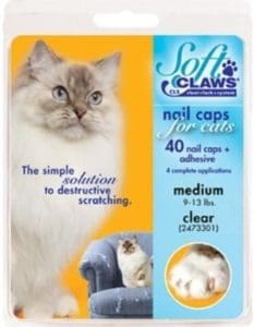 Soft Claws Medium Clear Nail Caps for Cats