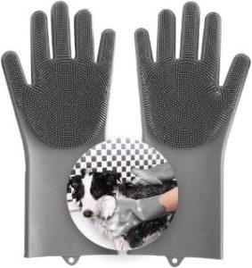 Aufew Magic Pet Grooming Gloves