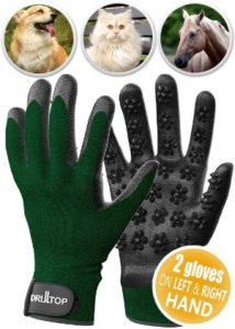 DrillTop Pet Grooming Gloves