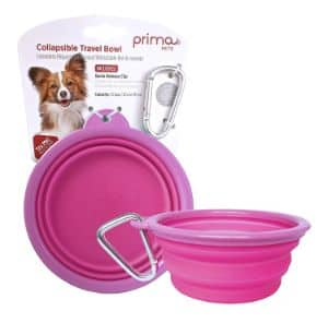 Prima Pets Collapsible Silicone Food & Water Travel Bowl