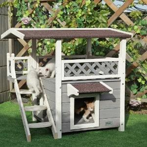 Petsfit 2-Story Outdoor Weatherproof Cat House