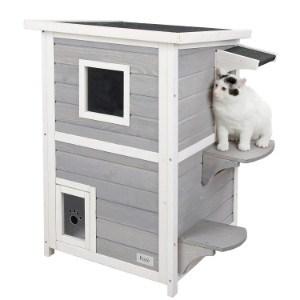 Petsfit 2-Story Weatherproof Outdoor Cat House