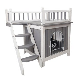 Petsfit Indoor Wooden House with Stairs