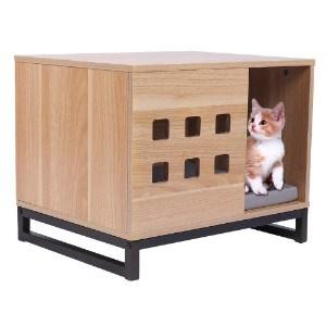 BBvilla Rectangle Wooden Pet House: Log Cabin Style
