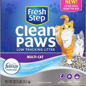Fresh Step Clean Paws Scented Multi-Cat Low Tracking Litter-min