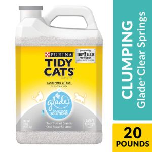 Purina Tidy Cats Clumping Cat Litter with Glade Tough Odor Solutions-min