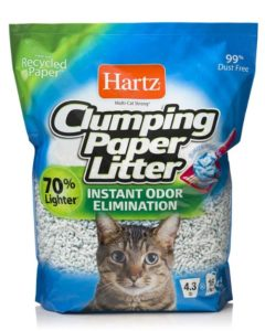 Hartz Multi-Cat Lightweight Recycled Clumping Paper Cat Litter